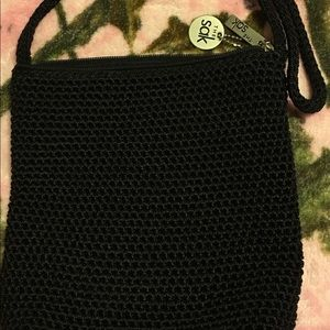 The Sak crochet purse Euc in black